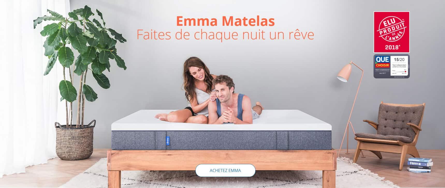 emma matelas meilleur produit 2018
