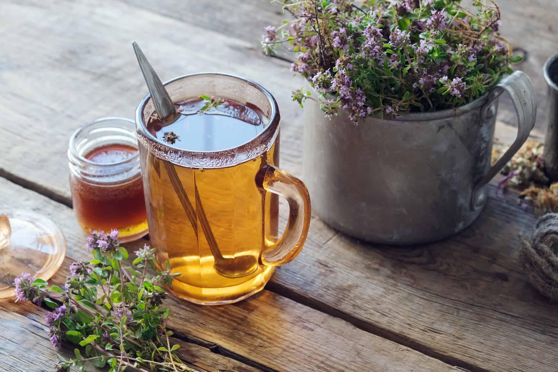 toux le soir thym et miel